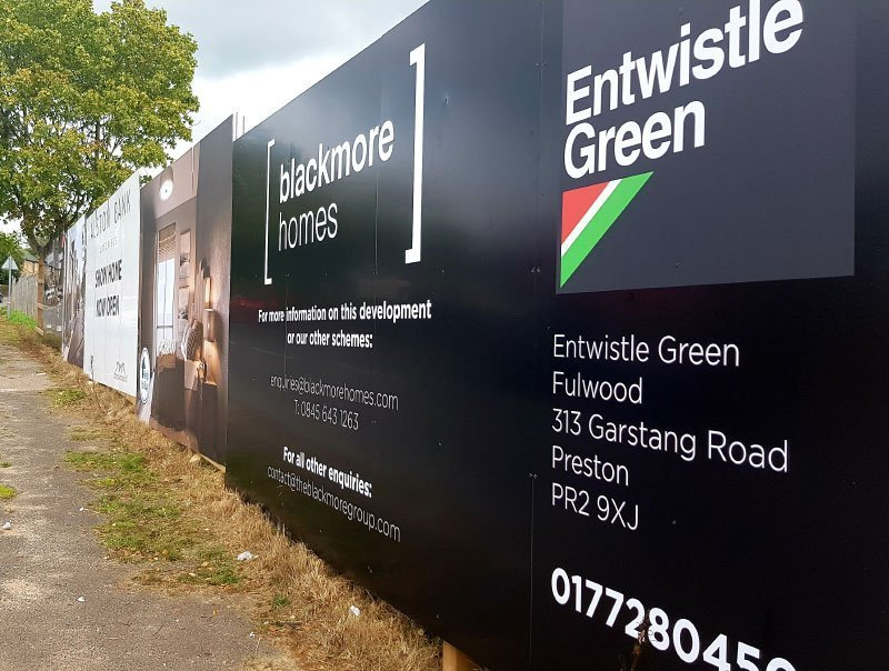 estate agent advertising board