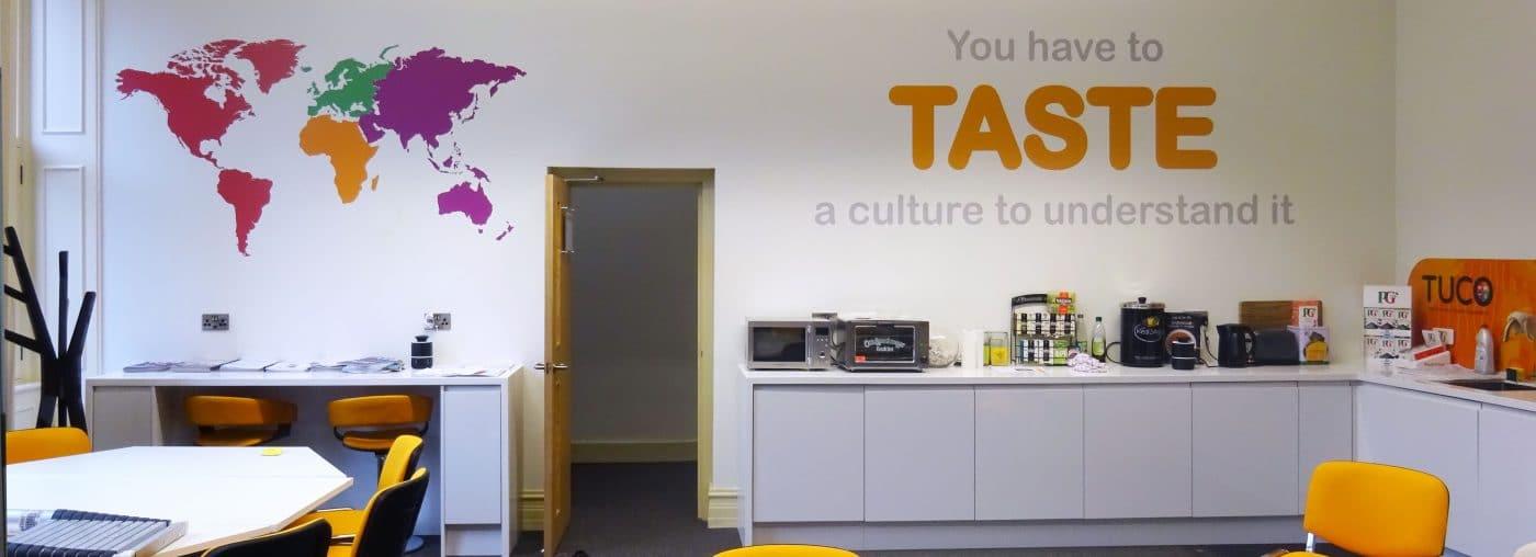 kitchen branding for office