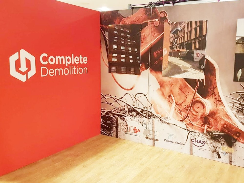 Complete Demolition Exhibition Stand