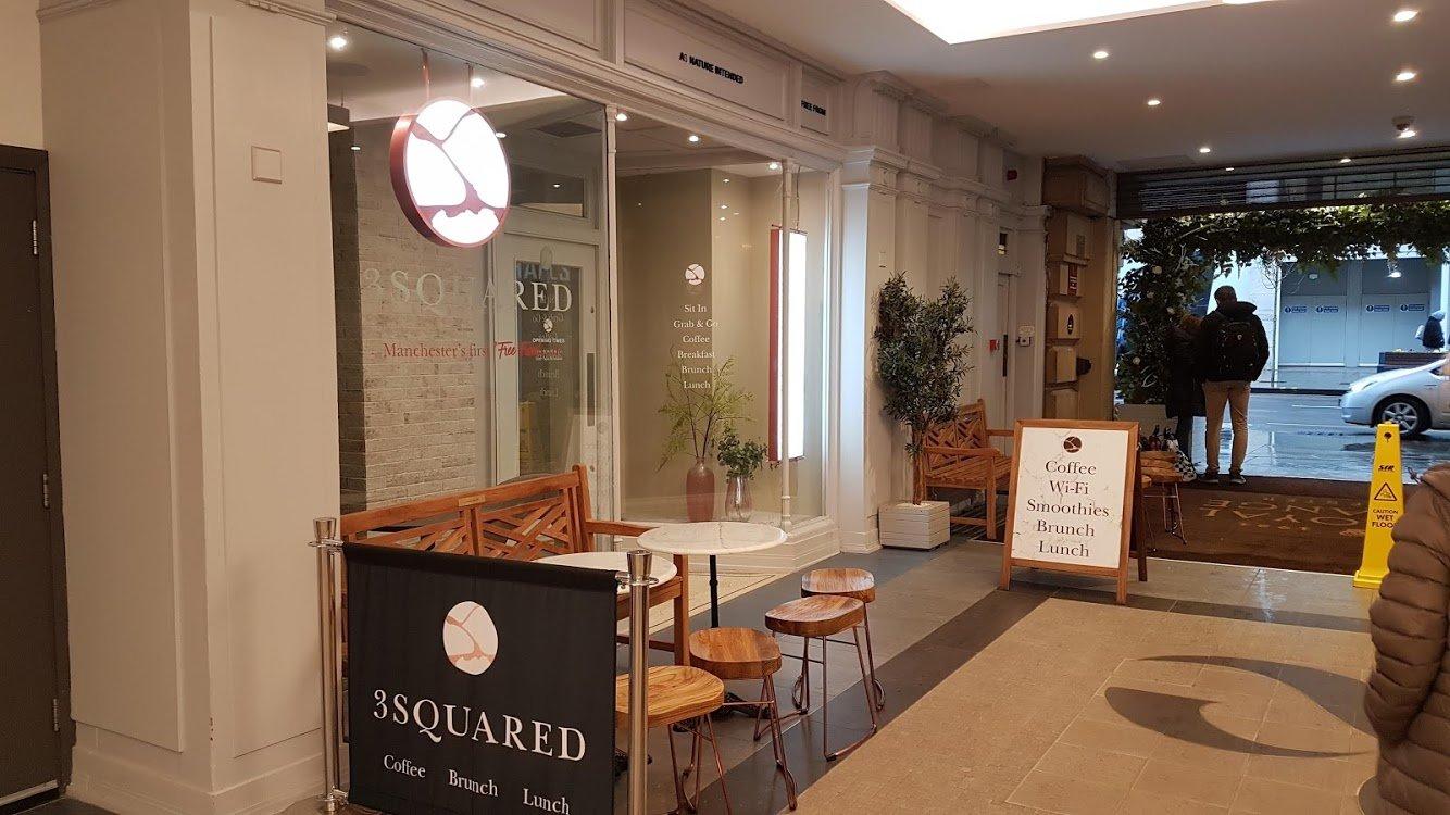 3 Squared cafe Exterior Signage