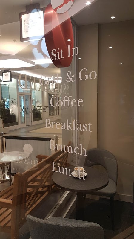 3 Squared Cafe Window Decals
