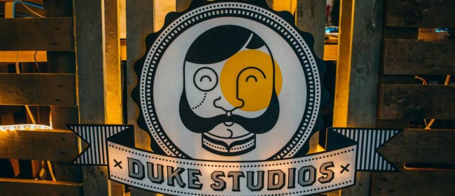 Duke Studios Backlit Sign