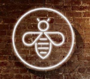 Bee Neon Mock Up