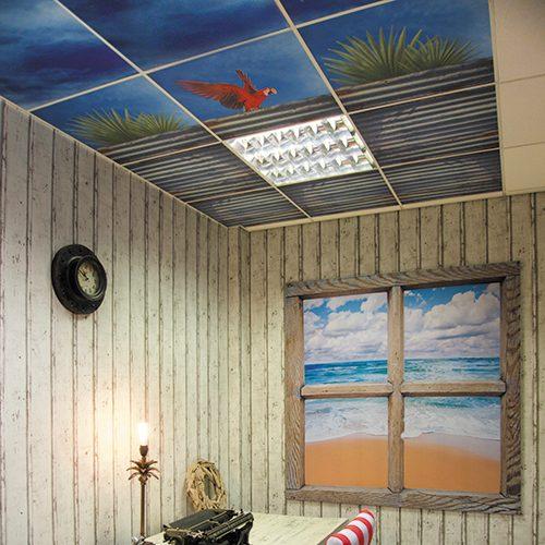 Custom Printed Ceiling Tiles