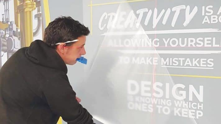Installation of Plot Cut Typography Wall Graphics at CAD Room