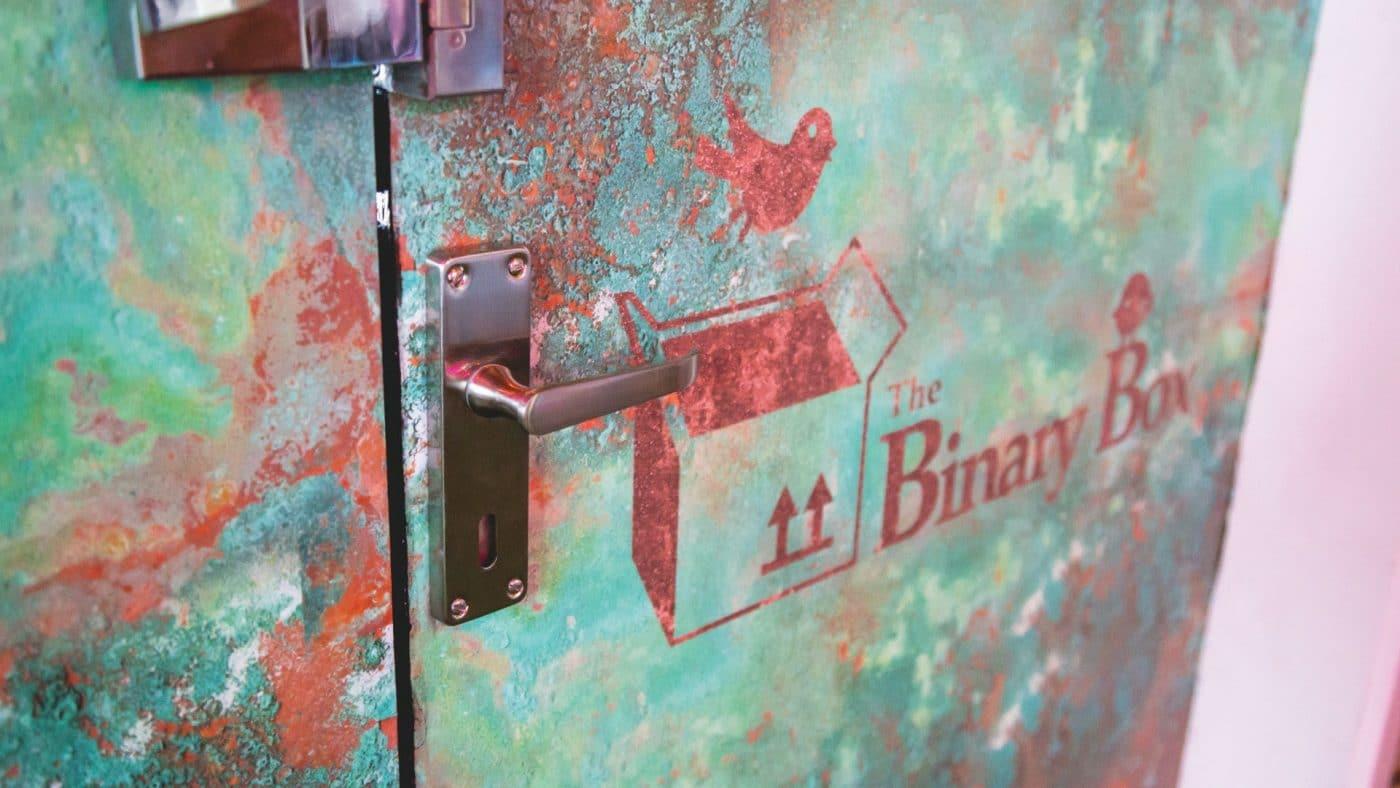 Reception Door Wrap with Branding