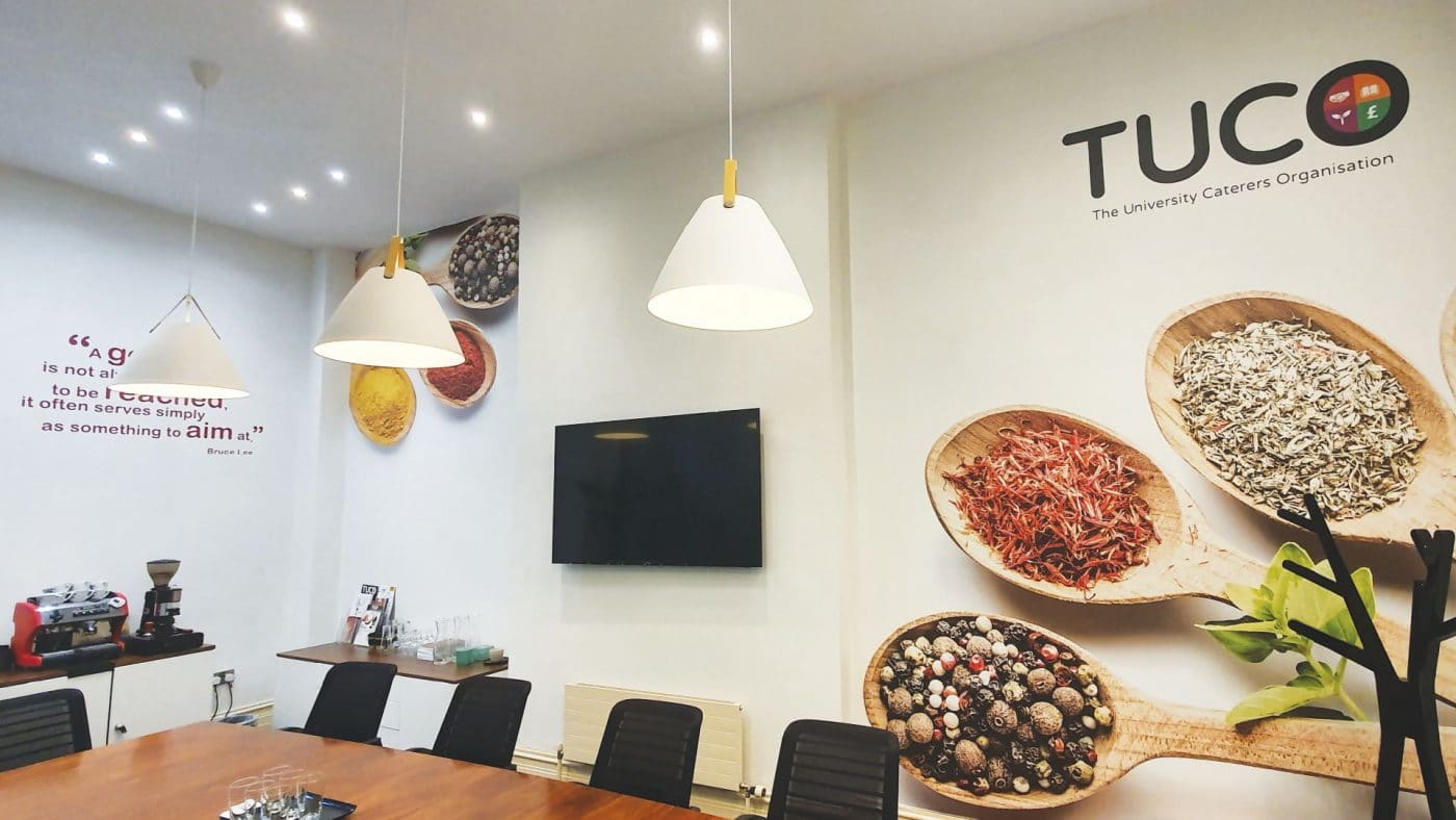 TUCO Meeting Room with plot cut wall graphics