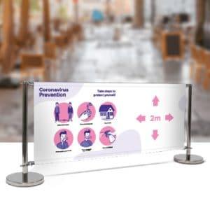 Covid-19 2m awareness PVC banner