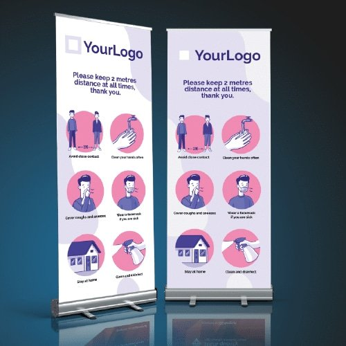 Covid-19 roller banner examples