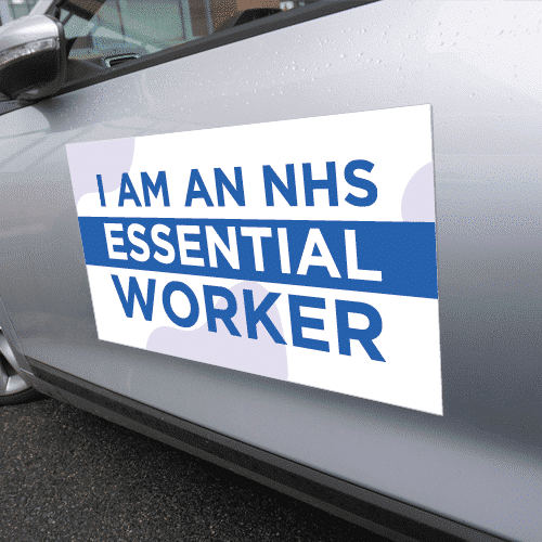 Covid-19 essential worker vehicle magnet