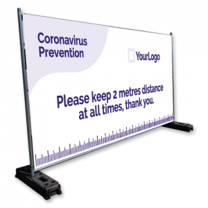 Covid-19 fabric banner example